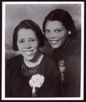 Portrait of two women, circa  1950