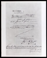 Biddy Mason's deed to two lots in downtown Los Angeles, executed on November 28, 1866 (copy photo 1930-1989)