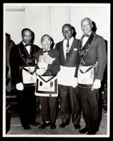 James D. Jenkins, Monroe Parker, Bernard Gray, and Charles D. Fowlkes, past masters of the masons, Los Angeles, 1967