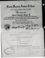 Santa Monica Jr. College Diploma/Certificate of Completion (copy)