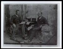 R. C. O. Benjamin and Dr. Monroe Majors portrayed as intellectuals, circa 1880-1900