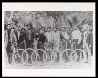 Speed Burners bicyclists at Sycamore Grove, Los Angeles, 1896