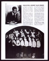 Magazine article about the Gilbert Allen Singers, circa 1939