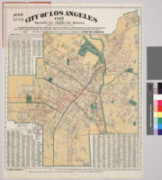 Map of the city of Los Angeles, 1897 : accompanying Maxwell's Los Angeles city directory and gazetteer of Southern California