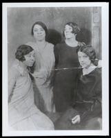 Charlotta Bass and three friends, circa 1922