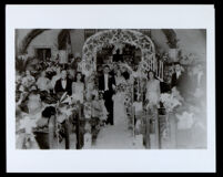 Wedding of an African American couple in an unidentified church, undated