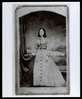 Portrait photograph of an unidentified woman, 1860-1900