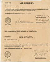 California State Board of Education Life Diploma (copy)