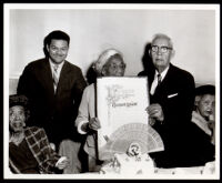 Margaret D. Scott at a party for her 104th birthday at the Pacific Town Club, Los Angeles, 1966