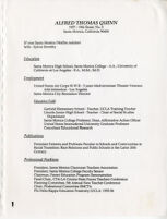 Alfred Thomas Quinn Resume, nd