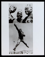 Jackie Robinson when he played football for the UCLA Bruins, Los Angeles, circa 1939