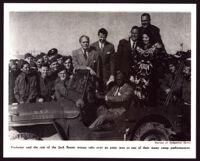 Cast of the Jack Benny Program on a USO tour, circa 1943