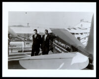 Albert Ernest Forsythe and C. Albert Anderson with Pride of Atlantic City, a single engine airplane, 1933