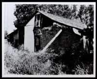 Adobe dwelling on the land of the original Rancho Rodeo de las Agua land grant, now Beverly Hills, 1920