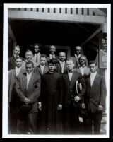 Reverend Walter T. Cleghorn with a group of young men at St. Philip's Episcopal Church, Los Angeles, circa 1920