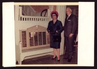 Paul R. Williams and Della Williams at the Wilfandel Club, Los Angeles, 1960-1970