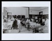 Students in the Sloyd room at Ann Street School, Los Angeles, 1890-1900