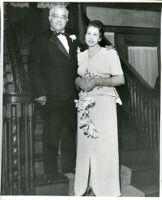 Dr. R. Stillman Smith and Cynthiabelle Gordon Smith on their wedding day at the Somerville home, 1947