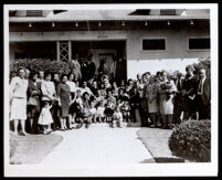 Mary Jane Broyles and family at her 85th birthday party, Los Angeles, circa 1961