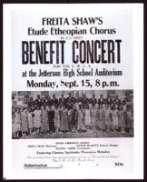 Advertisement for Freita Shaw's Etude Etheopian Chorus Benefit Concert, Los Angeles, 1924