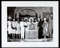 A. C. Bilbrew and others at the Bethune Women's Day event at the Second Baptist Church, Los Angeles, 1962