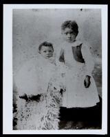 Bessie Bruington Burke and her sister, Ethel Bruington, as young girls, Los Angeles, circa 1895
