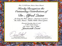 Juneteenth Outstanding Contribution Certificate - NAACP