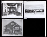 Mission San Francisco de Asís church, a lithograph of San Francisco, and portrait of Mr. Greene's family, 1913-1980