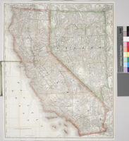 Rand McNally and Co.'s indexed map of California and Nevada