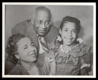 William and Louise Patterson with their daughter Mary, circa 1950