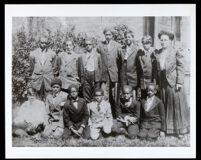 Sunday school class at St. Matthias Episcopal Church, Los Angeles, 1880-1910