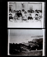 Luncheon party attended by Eva and Nella Allensworth, Fort McDowell, San Francisco, circa 1900