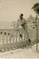 Alfred Thomas Quinn Posing in Italy during World War II