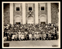 Members of the Alpha Kappa Alpha Sorority and the Sigma Pi Phi Fraternity at a national boulé meeting, 1950s