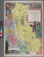 Map of the marked historical sites of California : compiled from the official registrations of the California State Department of Natural Resources [verso]