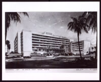 Rendering of the Osteopathic Hospital of the Los Angeles County General Hospital by Paul R. Williams and Adrian Wilson, Los Angeles, circa 1957