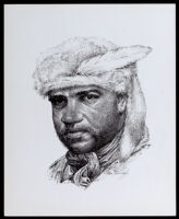 Drawing of York, a late 18th-early 19th century African American explorer, by Sam Patrick, circa 1969