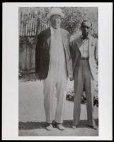 Leon Washington and Joseph Blackburn Bass, Los Angeles, circa 1930