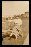 Mrs. Mitchell  in Palisades Park, Santa Monica, 1900-1920