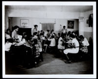 Youths participating in the National Youth Administration Work Program, Riverside, 1938