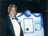 Dr. Alfred Thomas Quinn Retirement Dinner Photo - Alfred Thomas Quinn with Certificates