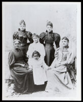 Group portrait, probably of Emma Todd, her daughters and an older relative, Los Angeles, 1885-1990