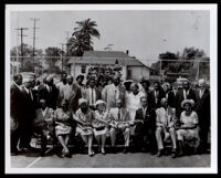 Dedication of Frederick Roberts Park clubhouse in his honor, Los Angeles, 1959
