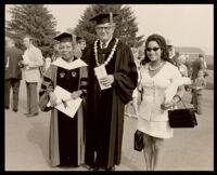 Dorothy Porter Wesley, Constance Uzelac, and the president of Susquehanna University, Selinsgrove, 1971