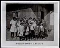 School children posing for a group portrait, Allensworth, 1910-1918