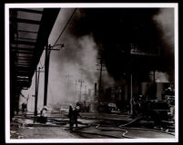 Watts riot scene at Central Ave. and 43rd St., Los Angeles, 1965
