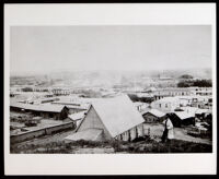 Part of a composite panorama of Los Angeles from Courthouse Hill (Poundcake Hill) by Stephen Arnold Rendall, circa 1869