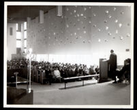 Homan United Methodist Church interior, Los Angeles, circa 1958