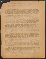 "Address. Dillon S. Myer. ""Problems of Evacuee Resettlement in California"""