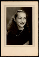 Portrait of a young woman, a friend of the Miriam Matthews family, 1930-1950